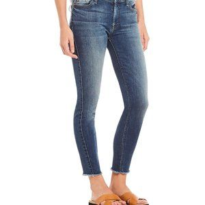 7 For All Mankind Ankle Straight Frayed Hem Jeans